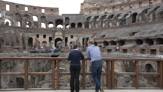 ITALY-BRITAIN-PRINCE-HARRY-PEOPLE-COLOSSEUM