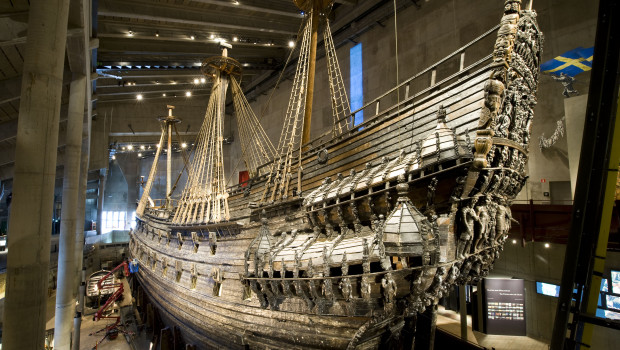 The Vasa is displayed at the Vasa Museum