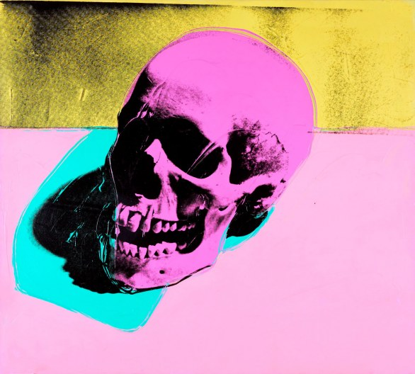 Andy Warhol Skull Serigrafia e acrilico su tela, 1976 MUMOK, Vienna (Foto © museum moderner kunst stiftung ludwig wien, On loan from the Austrian Ludwig Foundation) © The Andy Warhol Foundation for the Visual Arts Inc., by SIAE 2013