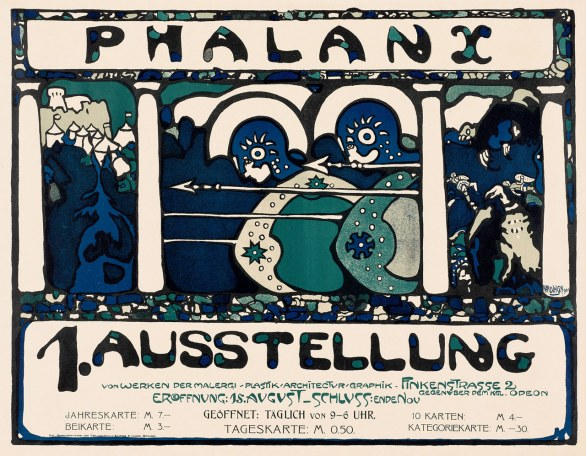 Poster for First Phalanx Exhibition Wassily Kandinsky (Russian, 1866 – 1944) 1901 Color lithograph *Gift of Susan W. and Stephen D. Paine *© 2011 Artists Rights Society (ARS), New York / ADAGP, Paris *Photograph © Museum of Fine Arts, Boston