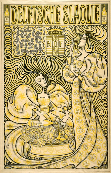 Delftsche Slaolie (Delft Salad Oil) Johannes Theodorus Toorop (Dutch, 1858 – 1928) 1894 Color lithograph printed in black and yellow *Lee M. Friedman Fund *Photograph © Museum of Fine Arts, Boston