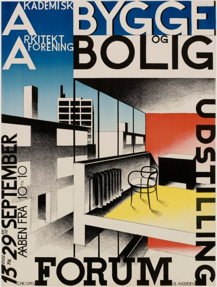 Academic Association of Architects, Exhibition of Buildings and Homes (Akademisk Arkiteklforening, Bygge og Bolligudstilling) Ib Andersen (Danish, 1907 – 1969) 1929 Lithography *Museum purchase with funds donated by the friends of Florence S. Gerstein in her memory *Photograph © Museum of Fine Arts, Boston