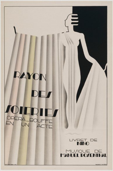 Poster for the Comic Opera, Rayon des Soieries, The Silk Counter Maurice Dufréne (French, 1876 – 1955) 1930 Poster, color lithograph * Lee M. Friedman Fund * Photograph © Museum of Fine Arts, Boston