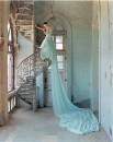 Lily Cole and spiral staircase, Whadwan, Gujarat, India, 2005, British Vogue, Photo © 2007 Tim Walker