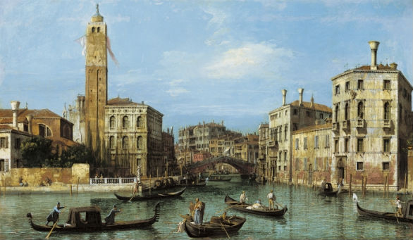 Canaletto, Il Canal Grande e l'entrata a Cannaregio, olio su tela, 46 X 78,4 cm, supplied by Royal Collection Trust - © HM Queen Elizabeth II 2012