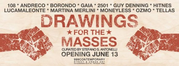 Drawing for the masses - 999 Gallery