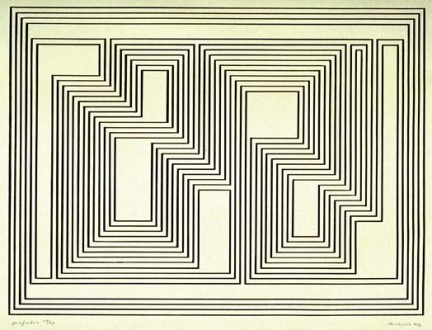 Josef Albers - Untitled lithograph -1942