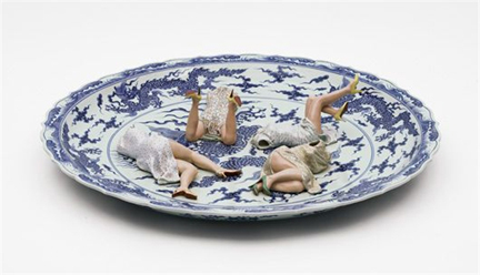 Games (polychrome ceramic series - 2002 - Liu Jianhua
