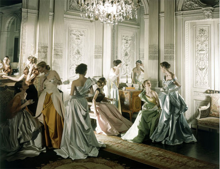 Models in dresses by Charles James, 1948, Vogue - Cecil Beaton - Courtesy of The Cecil Beaton Studio Archive at Sotheby's - Copyright Conde Nast