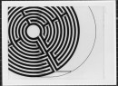 Section of a Circular Labyrinth (Robert Morris, Five labyrinths, Serie of lithographies, 1993) Gori Collection, Fattoria di Celle, Pistoia