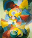 Conception Synchromy - 1914 - Stanton Macdonald-Wright - Hirshhorn Museum and Sculpture Garden, Smithsonian institution, Washington D.C. - Dono di Joseph H. Hirshhorn, 1966