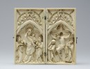 The Virgin and Child Flanked by Angels and the Crucifixion - 1300/1325