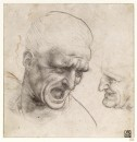 Studies for the Heads of Two Soldiers in the Battle of Anghiari - 1504/1505 - Leonardo da Vinci - Museum of Fine Arts, Budapest