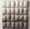 Susan Dwyer Untitled (Gray Fade Grid), 2009 plaster, acrylic paint, polyurethane 18 x 15 x 2 inches