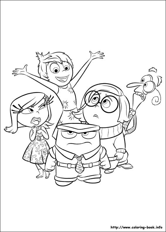 inside out coloring pages together - photo#2