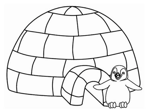 Free Coloring Pages Of What An Igloo Igloo Coloring Page