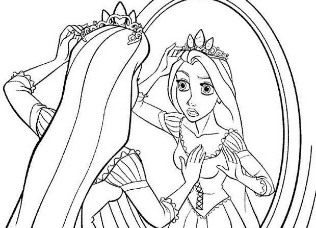 Rapunzel album e disegni facili da colorare for Immagini da colorare walt disney