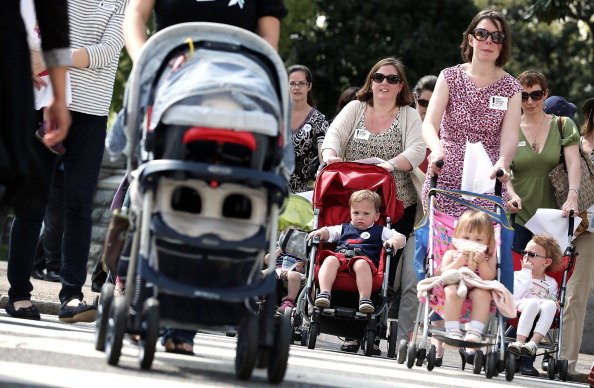 Moms With Strollers Rally On Capitol Hill Against Gun Violence