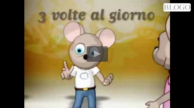 Lavarsi i denti cartone animato video
