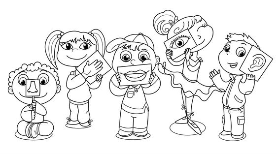 sensory coloring pages - photo#1