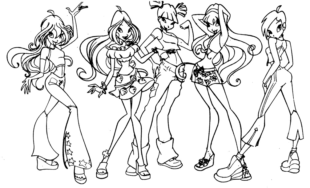 online winx club coloring pages - photo#48