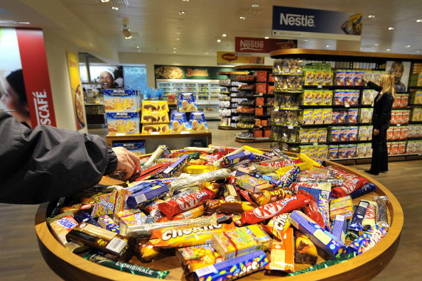 A selection of Nestle chocolate bars is