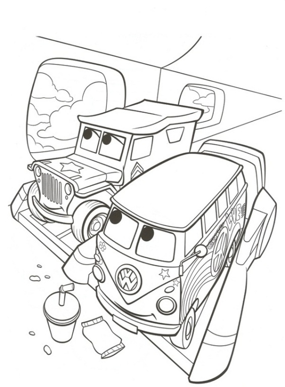Cars i disegni da colorare 1 7 for Disegni da colorare e stampare di cars