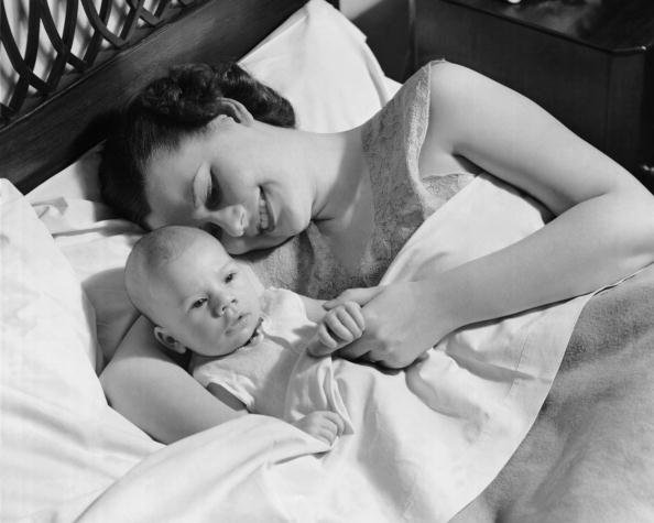 Mother & baby in bed