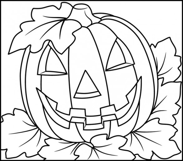 halloween scenery coloring pages - photo #19