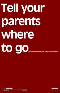 Scritta: Tell your parents where to go