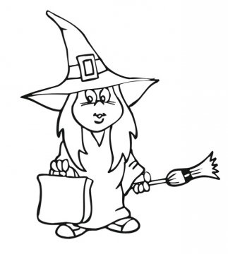 Disegni da colorare la befana for La befana coloring page