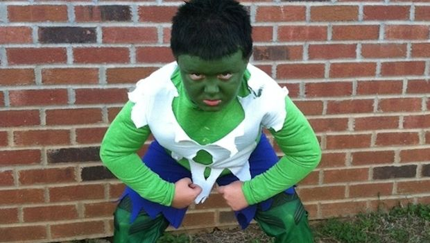 Costume hulk halloween tutorial semplice for Papillon bambino fai da te