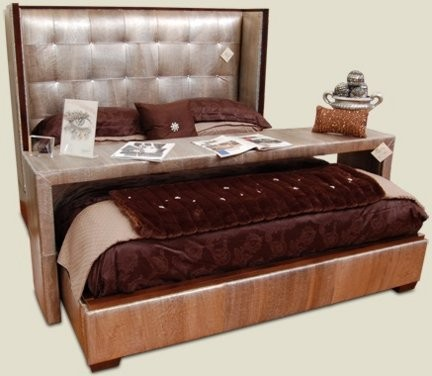 Laurent 5060-99, il letto con cristalli Swarovski di Laurent Leather