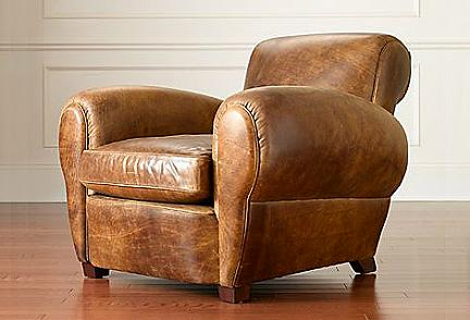 Parisian Leather Chair Una Poltrona Di Gusto Vintage