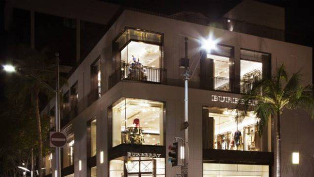 Burberry apre boutique sulla Rodeo Drive di Beverly Hills
