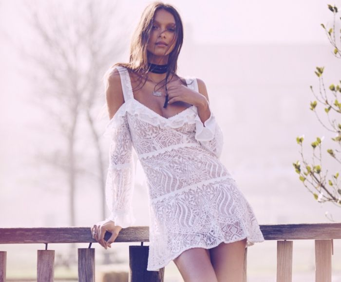 Lais Ribeiro in chiave rétro per For love & Lemons autunno-inverno 2016-2017