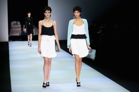 Emporio Armani - Runway - Milan Fashion Week Womenswear Autumn/Winter 2014