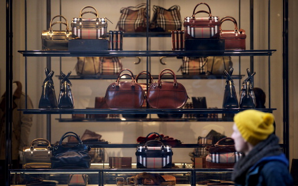 BRITAIN-LUXURY-CLOTHING-EARNINGS-COMPANY-BURBERRY