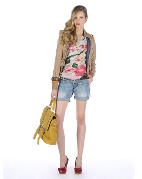 Shorts in denim Silvian Heach
