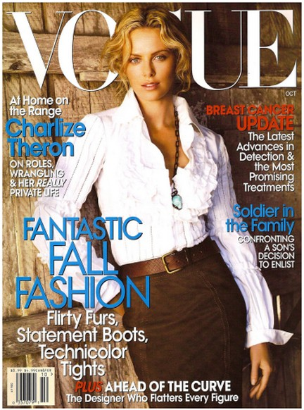 Charlize Theron su Vogue
