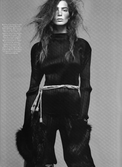 Daria Werbowy su Vogue Paris
