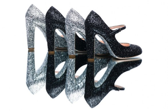 gli accessori must have per l'inverno 2013 mary jane glitterati nere e silver