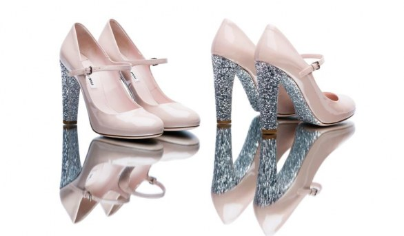 gli accessori must have per l'inverno 2013 mary jane glitterate rosa