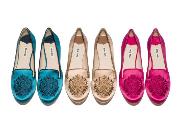 gli accessori must have per l'inverno 2013 slippers velluto Miu Miu colorate
