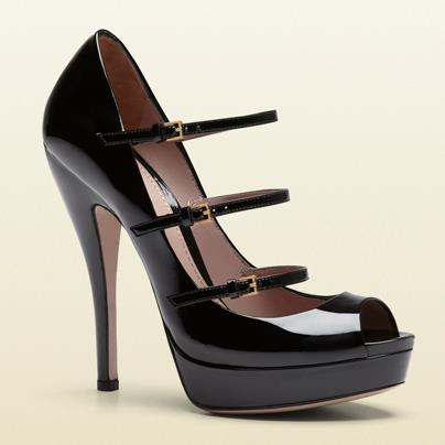 gli accessori must have per l'inverno 2013 peep toe Gucci