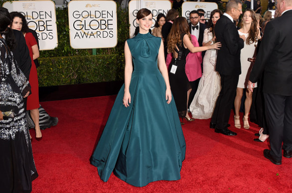 Golden Globe 2015, Felicity Jones in Dior Couture