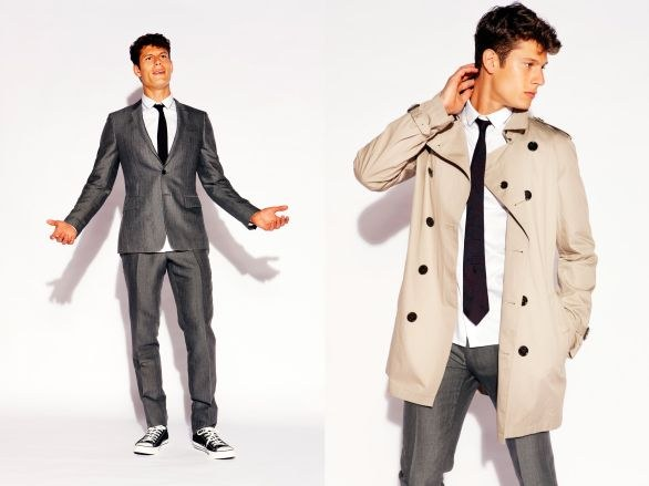 Il top model Eian Scully in Burberry