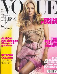kate moss su british vogue