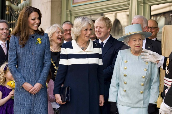 Kate Middleton, con Camilla