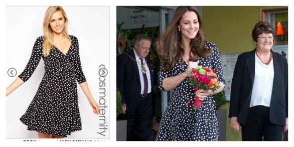 Kate Middleton in Asos Maternity